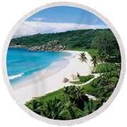 High Angle View Of The Beach, Grand Round Beach Towel