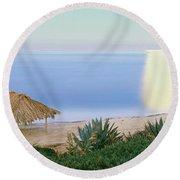High Angle View Of Windansea Beach, La Round Beach Towel