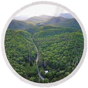 High Country 2 In Wnc Round Beach Towel
