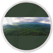 High Country 3 In Wnc Round Beach Towel