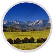 High Country Harvest Round Beach Towel