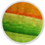 High Desert Original Painting Round Beach Towel