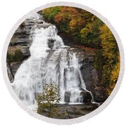 High Falls In The Dupont State Forest Round Beach Towel