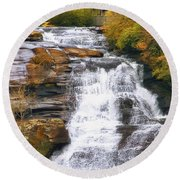 High Falls Round Beach Towel by Scott Norris