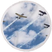 High Flying Five Round Beach Towel