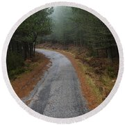 High Mountain Road Round Beach Towel