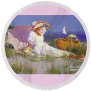 High On A Dune Round Beach Towel