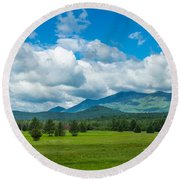 High Peaks Area Of The Adirondack Round Beach Towel