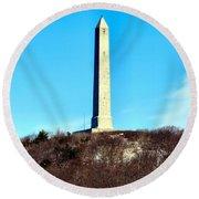 High Point Monument Nj Round Beach Towel
