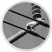 High Power Lines - 1 Round Beach Towel