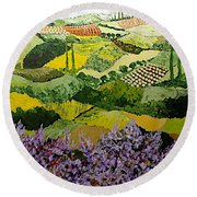 High Ridge Round Beach Towel
