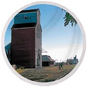 High River Round Beach Towel