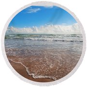 High Tide In South Padre  Round Beach Towel