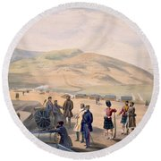 Highland Brigade Camp, Plate From The Round Beach Towel