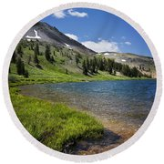 Highland Lakes Round Beach Towel