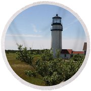 Highland Light - Cape Cod - Ma Round Beach Towel