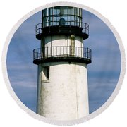 Highland Light Sentinel To The Sea   Round Beach Towel