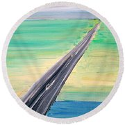 Highway Round Beach Towel