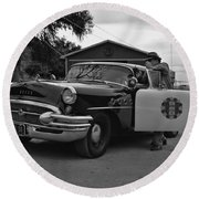 Highway Patrol 4 Round Beach Towel by Tommy Anderson