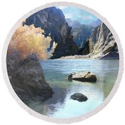 Hikers Haven Round Beach Towel