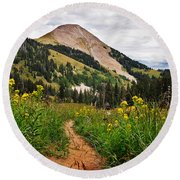 Hiking In La Sal Round Beach Towel