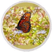 Hill Country Butterfly Round Beach Towel