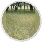 Hill Country Calm Round Beach Towel