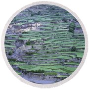 Hill Modified For Agriculture, Tetang Round Beach Towel