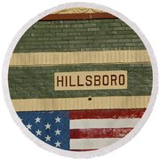 Hillsboro Village Nashville Round Beach Towel