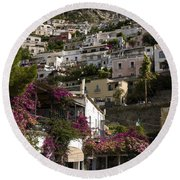 Hillside Positano Round Beach Towel