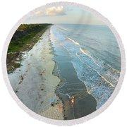 Hilton Head Island Beach Round Beach Towel