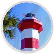 Hilton Head Lighthouse Upclose Round Beach Towel