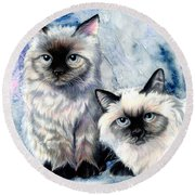 Himalayan Duo Round Beach Towel