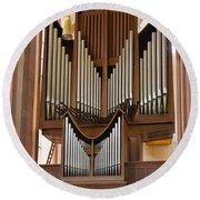 Himmerod Abbey Organ Round Beach Towel