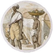 Hindu Valet Or Buyer Of Food, From The Round Beach Towel