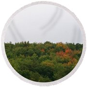 Hints Of Autumn Round Beach Towel