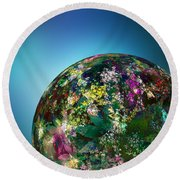 Hippies' Planet 2 Round Beach Towel