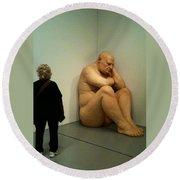 Hirshhorn Museum Sculpture Round Beach Towel