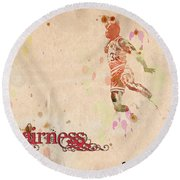 His Airness - Michael Jordan Round Beach Towel by Paulette B Wright