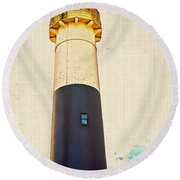 Historic Absecon Lighthouse Round Beach Towel