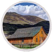 Historic Barn - Wasatch Front Round Beach Towel