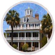 Historic Battery Home Round Beach Towel