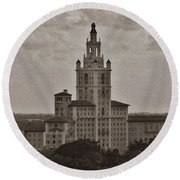 Historic Biltmore Hotel Round Beach Towel