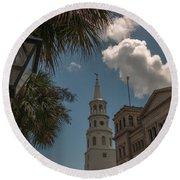 Historic Charleston Round Beach Towel