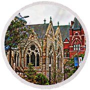 Historic Church St Louis Mo 2 Round Beach Towel