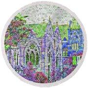 Historic Churches St Louis Mo - Digital Effect 4 Round Beach Towel