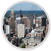Historic City Centre Baltimore Round Beach Towel