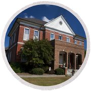 Historic Currituck Courthouse Round Beach Towel