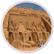 Historic Egypt Round Beach Towel