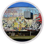 Historic Faces Of Ybor City Round Beach Towel
